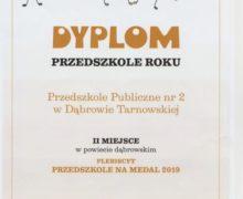 Przedszkole na medal 2019
