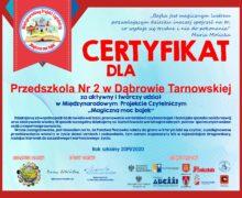 Certyfikat dla przedszkola